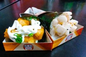 Salmão Empanado e Peixe Branco