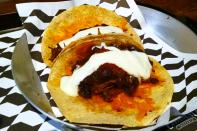 Tacos de carne bovina