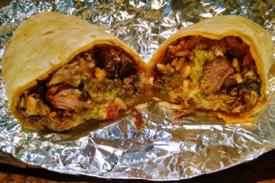 Burritos de carne de porco