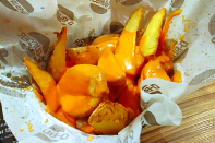 Fritas rústicas com Cheddar